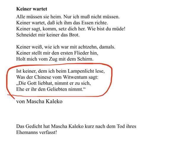 Wie interpretiere ich dieses Gedicht nur?