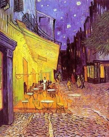 Café de Nuit - (Kunst, Expressionismus, Vincent van Gogh)