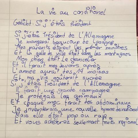 Wie Ist Das Gedicht So Sprache Französisch