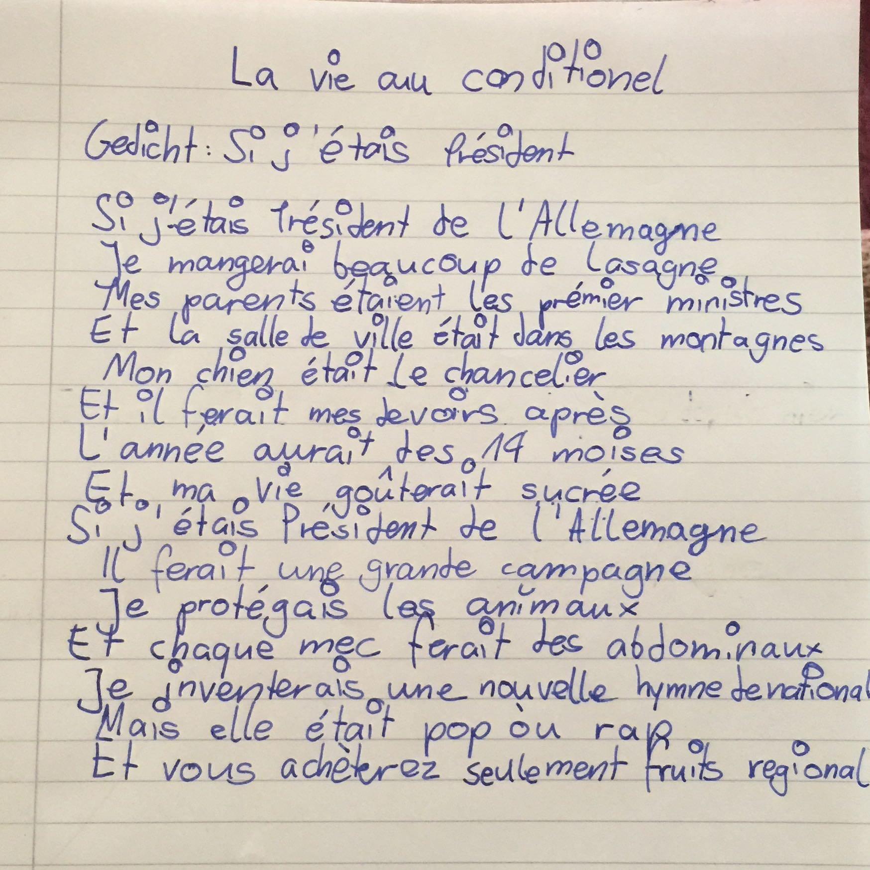 Hi Auf Französisch
