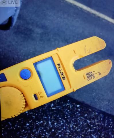 Wie ist das möglich Strom zu messen (Fluke Messgerät)?