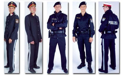 Spanische Polizeiuniform