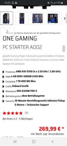 Wie ist der Gaming PC (300 Euro)?