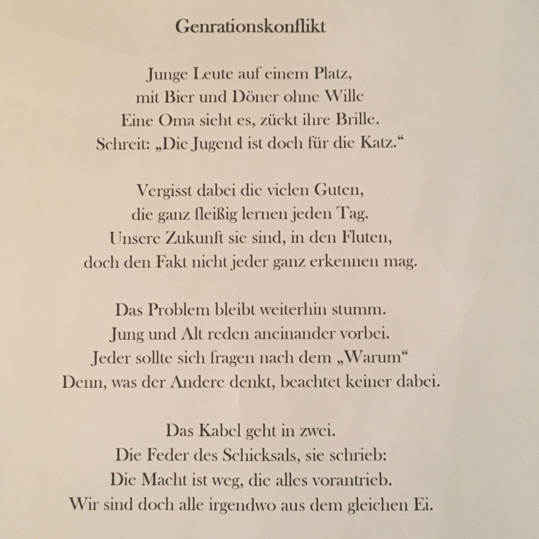 Wie Ist Eure Meinung Zu Folgendem Gedicht Lyrik