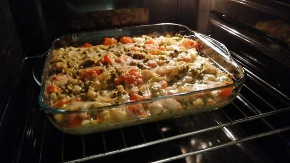 Wie ist mein Gnocchi-Gemüseauflauf geworden, irgendeine Beilage noch dazu?