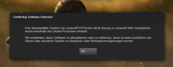 Hier die Fehlermeldung - (Computer, Steam, Fehlermeldung)