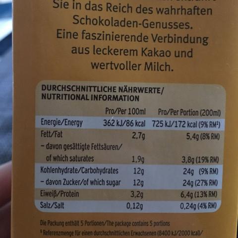 Wie Kann 1l Kakao 860kcal Haben Ernährung Kalorien Nährwerte