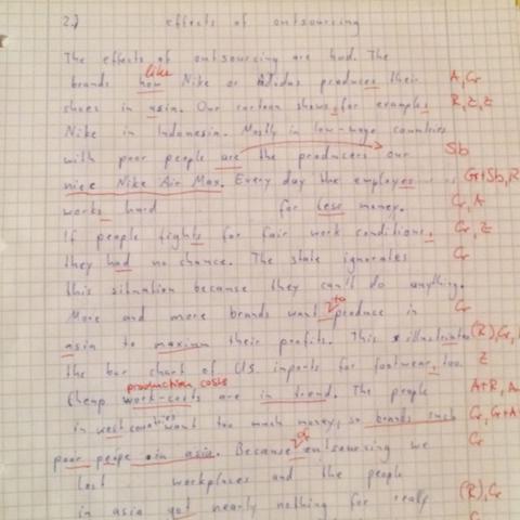 Aufgabe 1.1 - (Englisch, Charts, Nachhilfe)