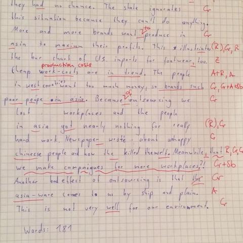 Aufgabe 1.2 - (Englisch, Charts, Nachhilfe)