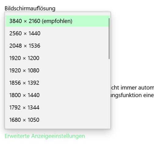 Wie kann ich auf einem 4K Bildschirm Windows in 32:9 anzeigen?