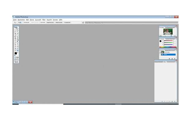 Wie kann ich bei Adobe Photoshop die Tool-Leiste, Dialogfelder etc. vergrößern?