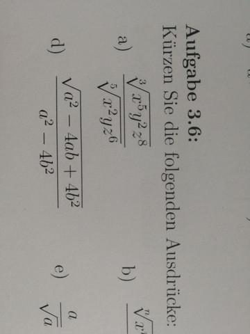 - (Mathematik, Kürzen von Brüchen)