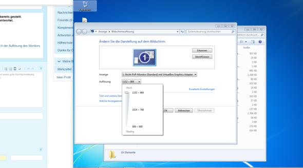 Wie kann ich bei meiner Virtual Machine von Oracle die Grafikkarte auf die meines PC's anpassen oder zumindest die Auflösung anpassen? Host:Win10 VM:Win7