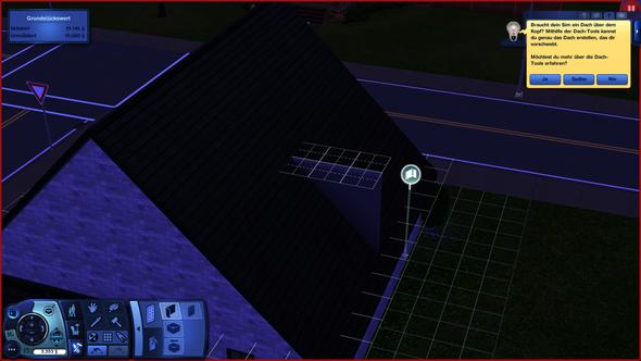 Wie kann ich bei Sims 3 Wände unter dem Dach Platzieren?