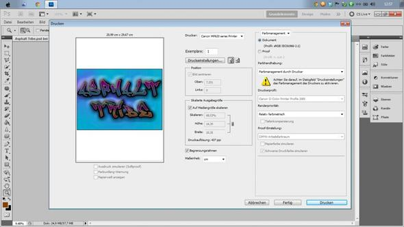 Screenshot - (Windows 7, Photoshop, drucken)