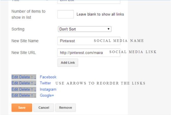 """Follow me""-Gadget - (html, Blog, social-media)"