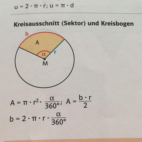 Wie kann ich das in den Taschenrechner eingeben Kreisbogen?