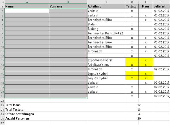 Seite 1 - (Excel, Formel)