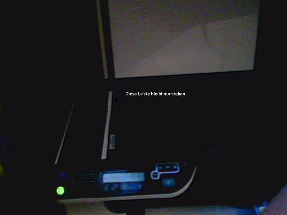 Das ist der defekte hp-Drucker. - (Computer, Drucker)