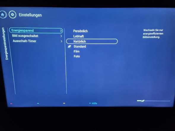 Wie kann ich den Energiesparmodus beim Philips Fernseher ausstellen?