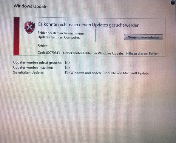 Windows 7 fehler - (PC, Windows, Windows 7)