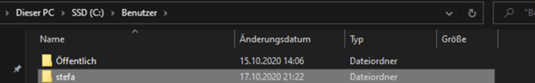 Wie kann ich den Namen in Explorer ändern (Benutzer)?