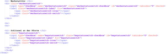 Wie kann ich den Zustand von Schaltern auf einer Website speichern?