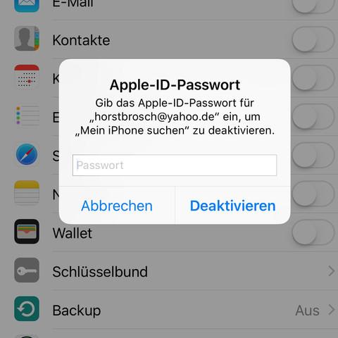 Der versuch den Account abzumelden .. - (iPhone, Software, icloud)