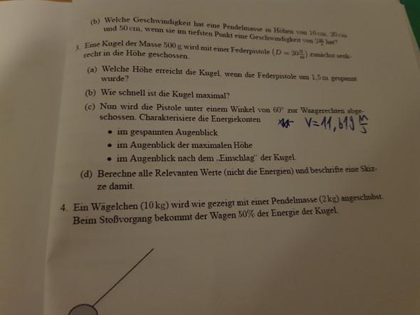 Wie kann ich die Aufgabe 3c) Lösen? (Physik, Kinematik)