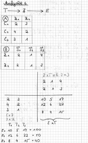 Aufgabe - (Mathematik, Gymnasium, matrizen)