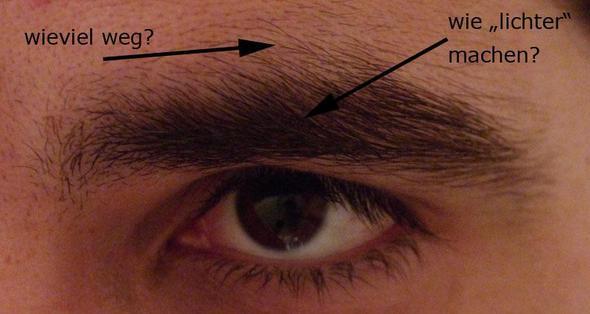 Augenbraue Nahaufnahme - (Augenbrauen, zupfen)