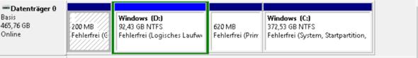 Partionen - (Windows, Festplatte)