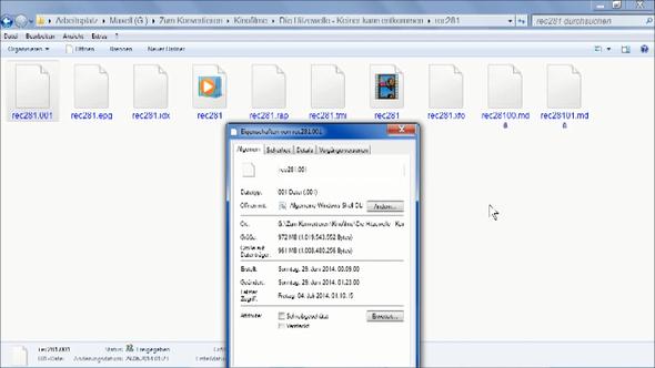"""Hier seht ihr eine Desktop Aufnahme vom Dateityp: """"001-Datei (.001)"""" - (Computer, Programm)"""