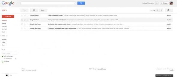Wie kann ich die Googlemail Sprache umstellen? Alles nur auf Englisch...
