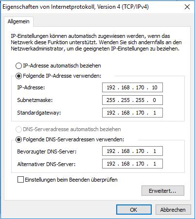 Hier der Dialog von Windows - (Computer, Internet, Handy)