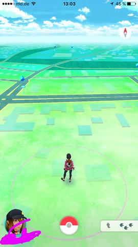 Das sehe ich , wenn ich die App öffne - (Kamera, Pokemon Go)