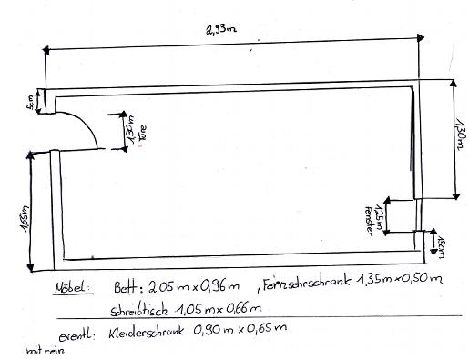 Zeichnung meines Zimmers - (Wohnung, Möbel, Zimmer)