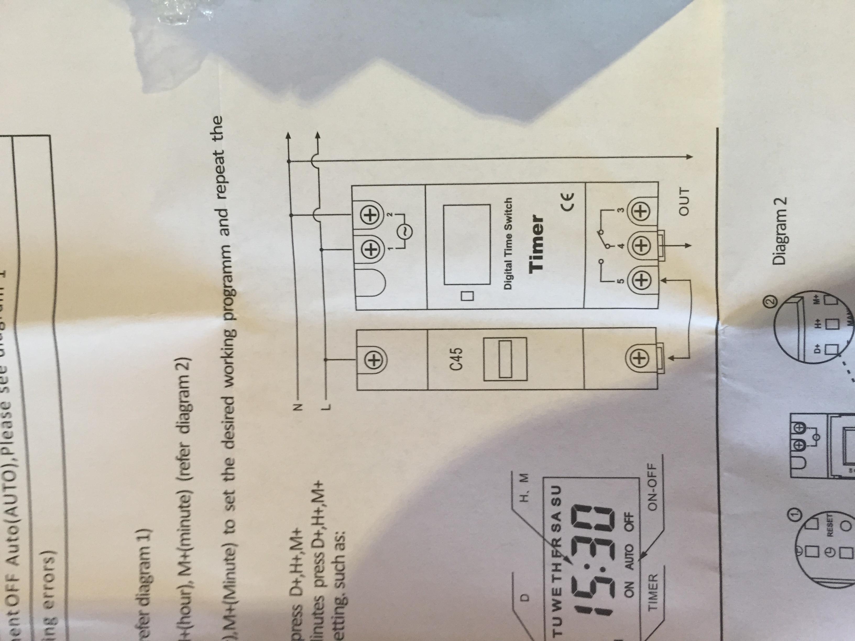 Wie kann ich die Zeitschaltuhr (siehe Bild) in mein 12V System in ...