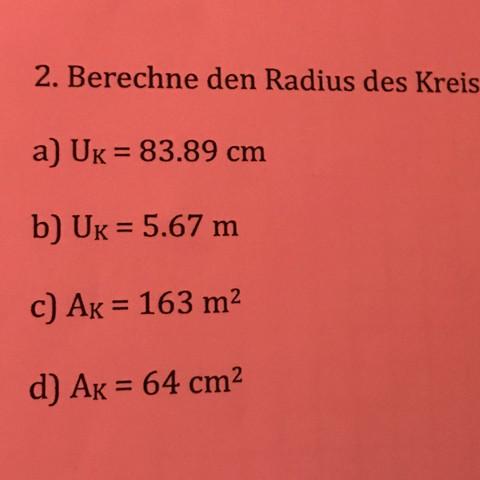Wie soll ich diese Aufgaben lösen - (Geometrie, Kreis berechnungen)