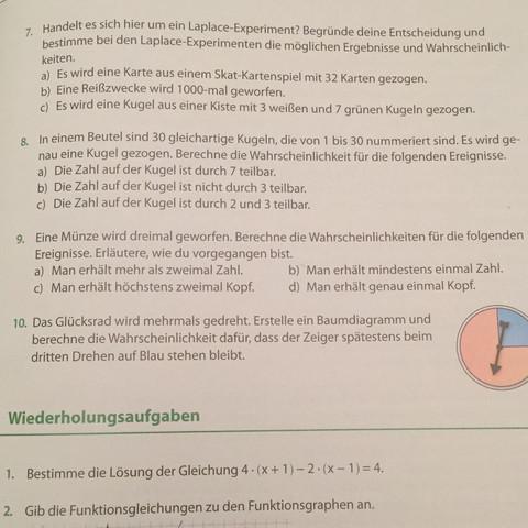 Aufgabe 9 - (Mathe, Aufgabe, Zufall)