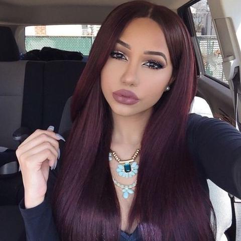 Haarfarbe hellbraun violett