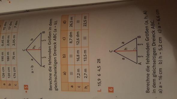 Wie kann ich diese Mathe-Aufgaben lösen? Es geht um gleichschenklige ...