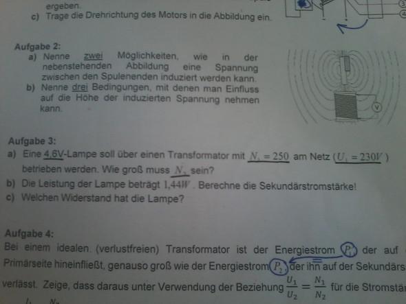 Aufgabe 3 - (Schule, Physik, Gymnasium)