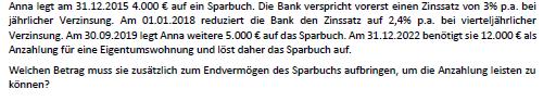 Beispiel - (Mathe, Mathematik, Bank)