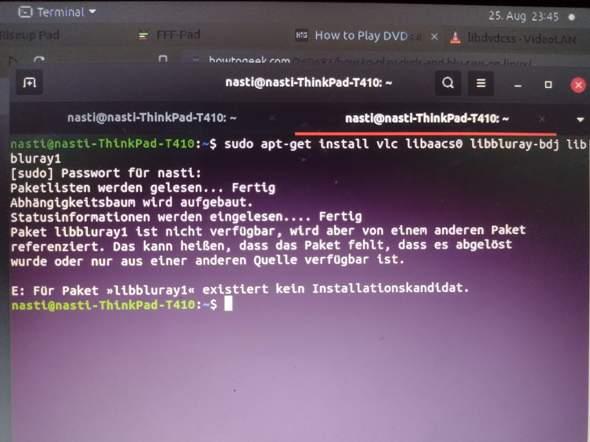 Wie kann ich dieses Ubuntu Paket für VLC installieren?
