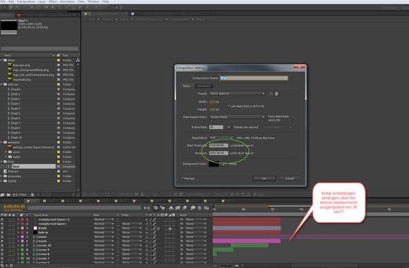 Projekt Verlängerung - (Adobe, mp4, after-effects)