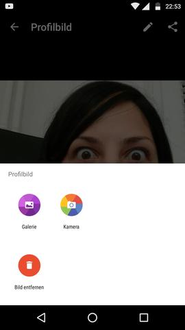 """Ich wollte, dass da eben """"Google Fotos"""" steht - (WhatsApp, Profilbild, google fotos)"""