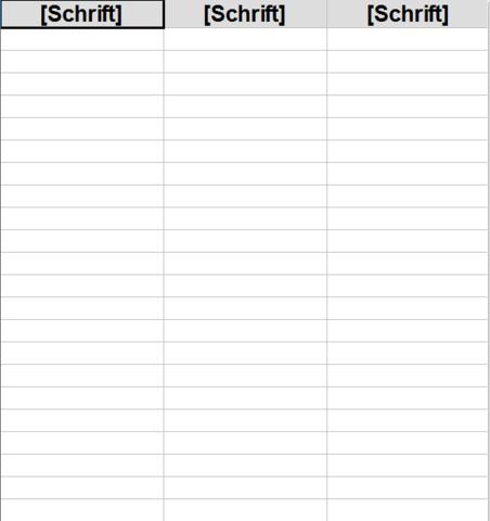 Wie kann ich eine Ganz einfache Tabelle mit Open Office Erstellen