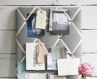wie kann ich eine pinnwand selber gestalten bilder. Black Bedroom Furniture Sets. Home Design Ideas