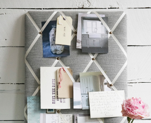 wie kann ich eine pinnwand selber gestalten bilder k che basteln. Black Bedroom Furniture Sets. Home Design Ideas